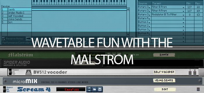 Wavetable fun with the malstrom in Propellerhead Reason