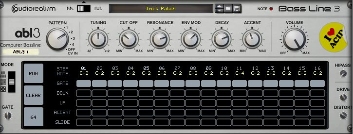 the grid edit mode in the ABL3 Computer bassline