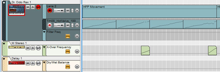 High Pass Filter (Audio) on a Loop