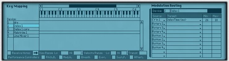 Chorus flanger programmer