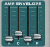 Amplitude envelope to control the distortion