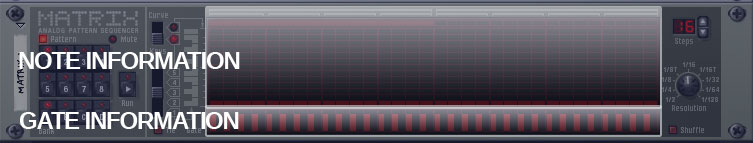 Matrix Pattern step sequencer in Propellerhead reason
