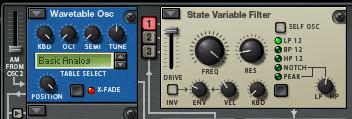 Oscillator as an LFO