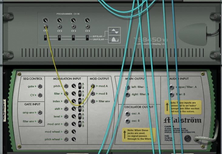 LFO for a Ping Pong delay in Propellerhead Reason