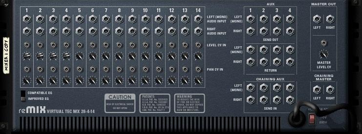 Control voltage inputs mixer 14:2 in Propellerhead Reason