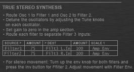 Analog oscillator true stereo