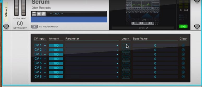 Control Voltages using VST in Reason