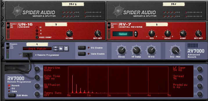 Space Ambient LFO Delay effect chain