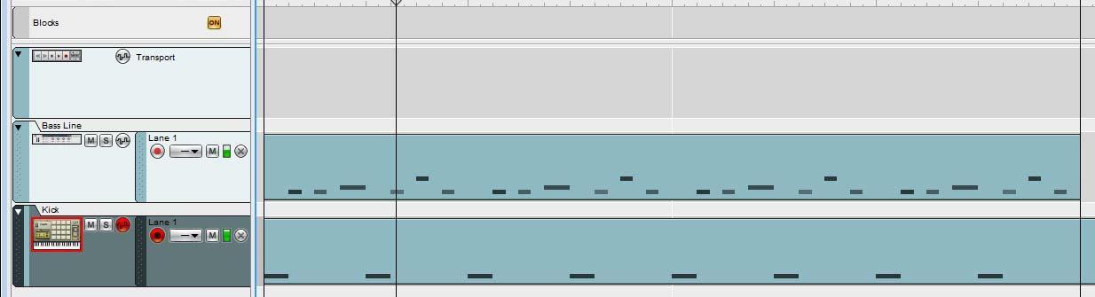 Goa Bass drum Bass Line Transition