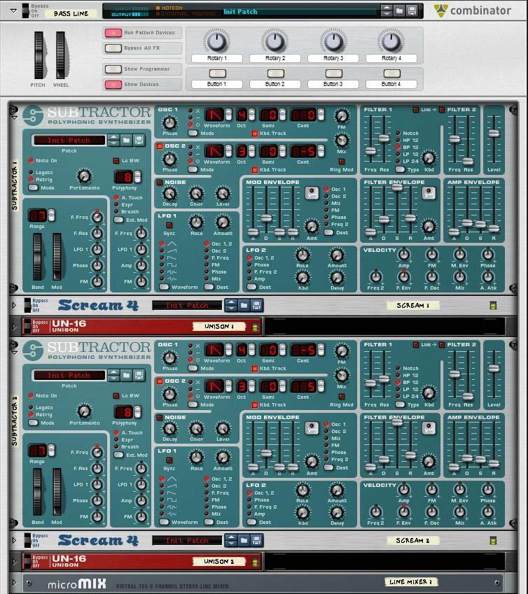 Goa Trance Bassline Combinator