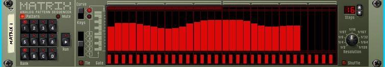 Matrix Pattern Step Sequencer Curve