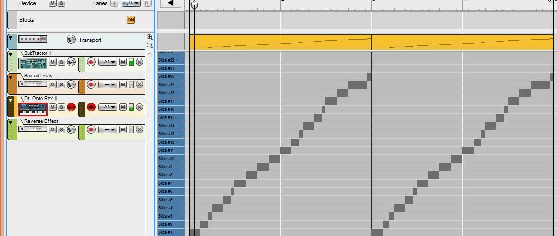 Sequencer Notes to Track