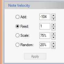 Sequencer Velocity Settings